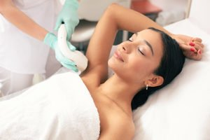 IPL Laser Hair Removal Woman